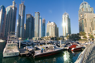 Photo: Dubai Marina, beautiful by day and night