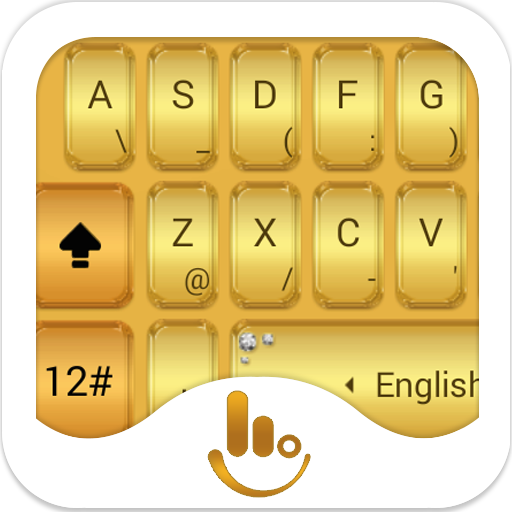TouchPal Gold Keyboard Theme