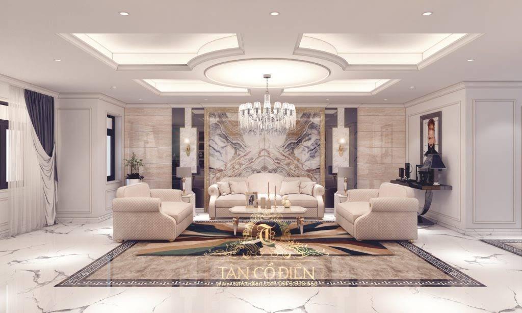 Phòng khách biệt thự tân cổ điển là gì?