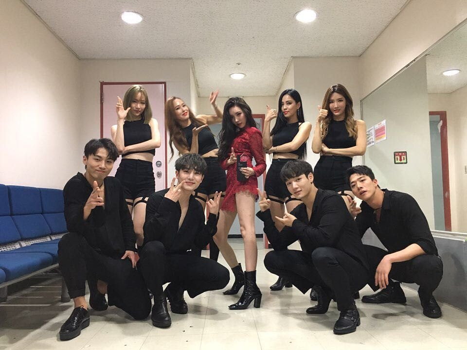 sunmi back up dancer