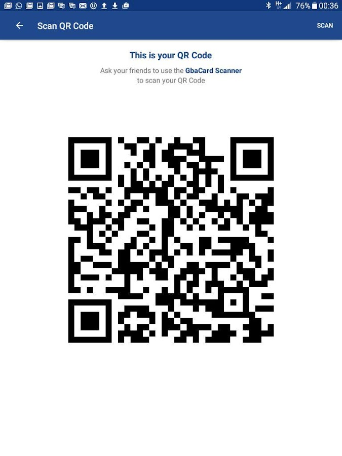 GbaCard - Digital Business Card- screenshot