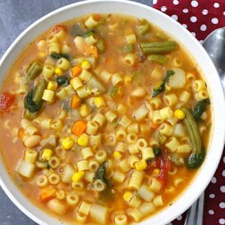 Crock Pot Minestrone Soup.