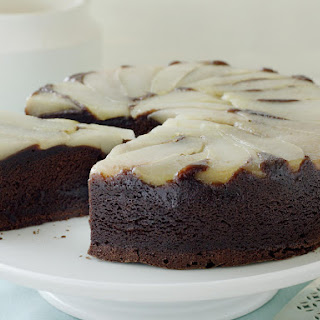 Upside-Down Pear and Chocolate Cake.