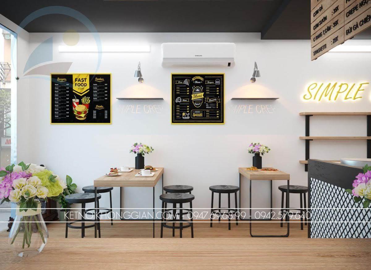 trang trí quán ăn nhanh
