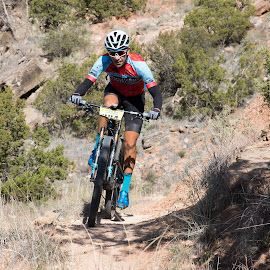 Racing mountain bike by Scott Thomas - Sports & Fitness Other Sports ( mountain, race, nature, people, bike )