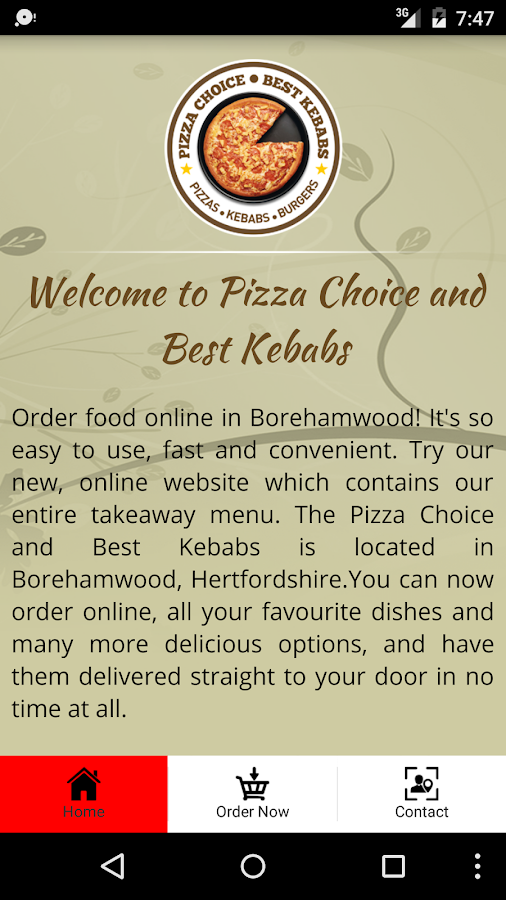 Pizza Choice and Best Kebabs- screenshot