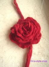Photo: валяная войлочная роза