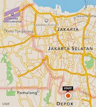 Photo: De mi casita a la Universidad de Indonesia - Depok hay unos 24km en moto.