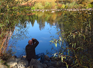 Photo: Shadows of leaves on Will's head, jeans, and on the rocks. #2606