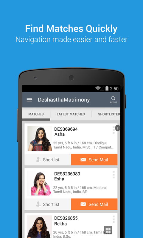 DeshasthaMatrimony- screenshot