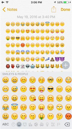 iPhone 絵文字 キーボード 2016 Emojis