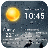 desktop weather clock widget