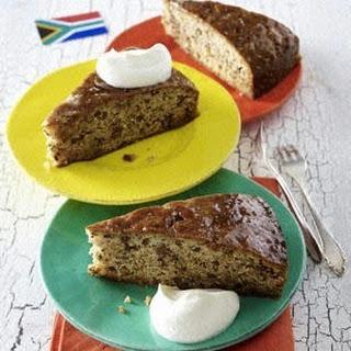 Südafrikanischer Dattel-Nuss-Pudding (Tipsy Tart)