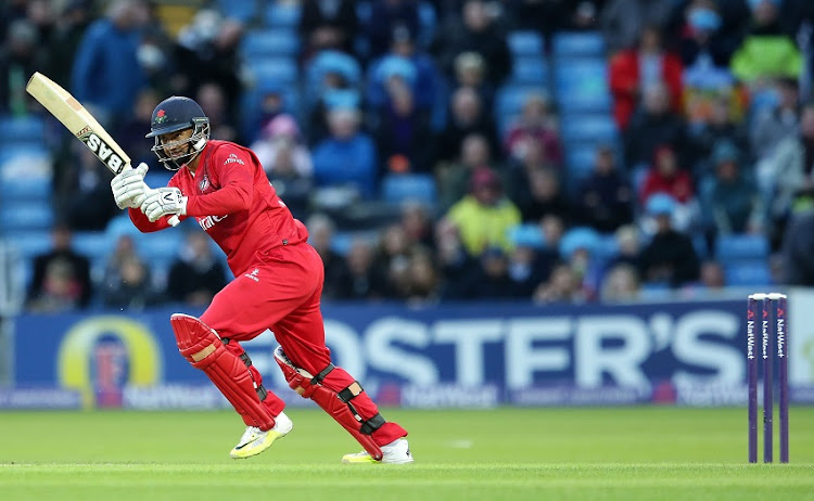 Alviro Petersen of Lancashire Lightning bats during the NatWest T20 Blast match between Yorkshire Vikings and Lancashire Lightning at Headingley on July 1, 2016 in Leeds, England.