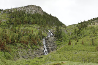 Photo: The first waterfall you see in the valley.