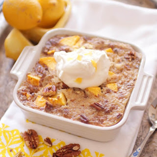 Peaches and Cream Rice Pudding For One