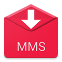 Save MMS attachments : backup icon