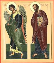 Photo: Архистратиг Гавриил и Апостол Павел