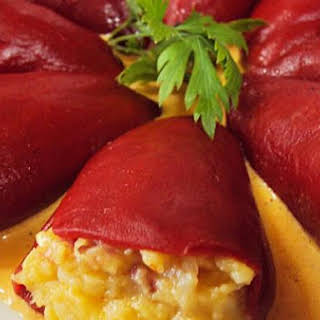 Stuffed Peppers With Cod.