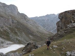Photo: Abajo un lago de sedimentos de las minas de las Mánforas