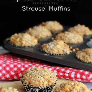 Apple Cinnamon Streusel Muffins.