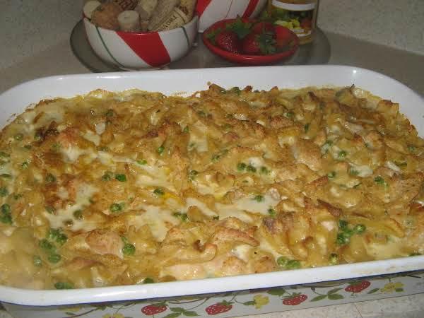 Chicken Noodle Alfredo Casserole Recipe