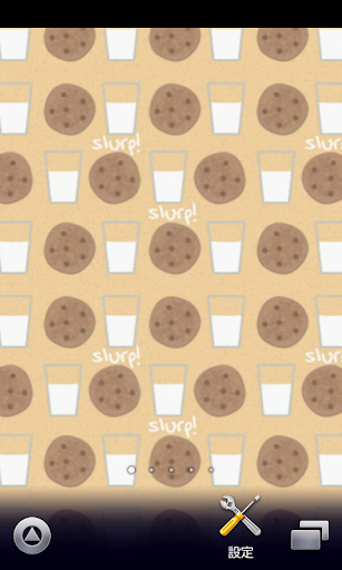 牛乳とクッキー壁紙【スマホ待受壁紙】