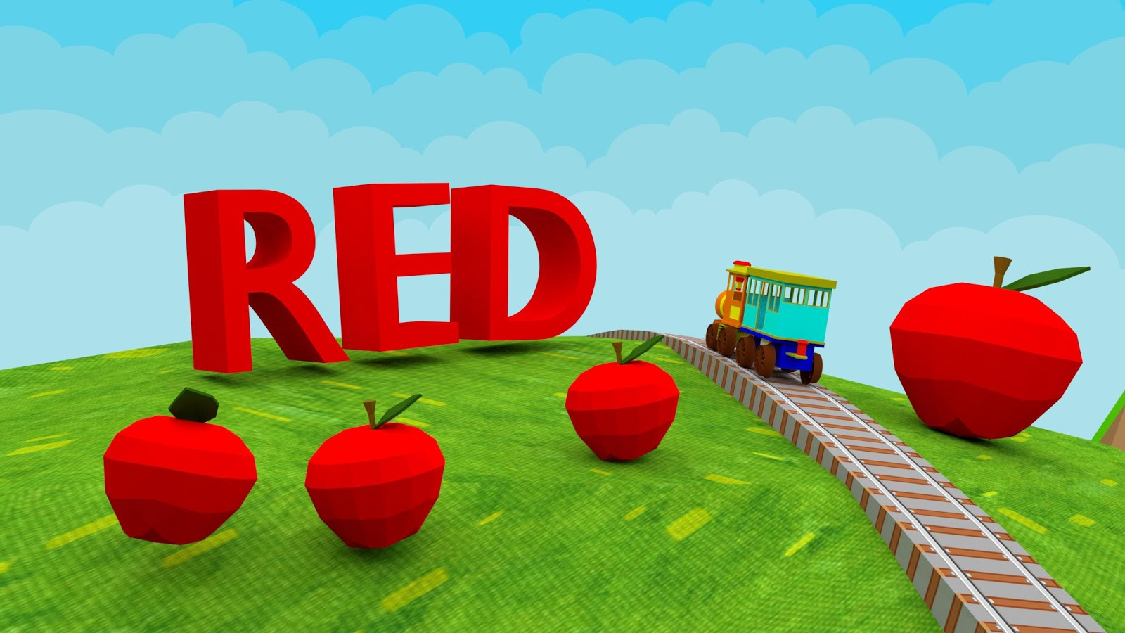 Game to learn colors - Learn Colors 3d Train Game For Preschool Kids Screenshot