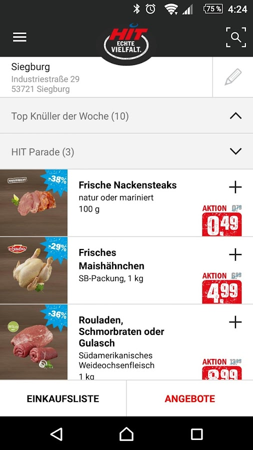 HITapp – Screenshot