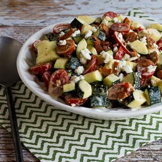 Bacon, Tomato, and Zucchini Salad with Feta.
