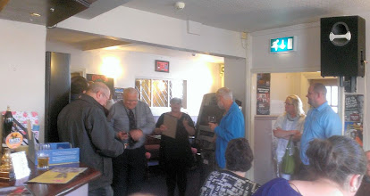 Photo: It's a special afternoon as Doncaster present an award for Grafton being top in a category at Doncaster CAMRA's 2013 beer festival. (photo taken by Simon Chappell)