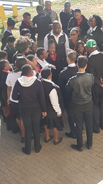Protesting employees outside Shoprite supermarket in Southgate shut down the store for hours on Monday after employees were allegedly called 'lazy k***rs'.