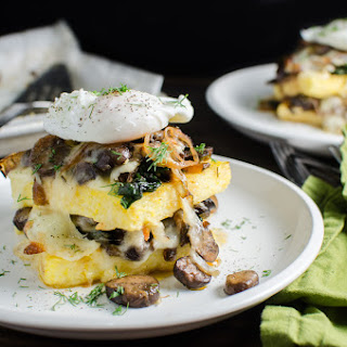 Spinach and Mushroom Polenta Stacks