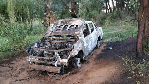 This ute was used to burgle a Baan Baa business and was later burned out in Narrabri.