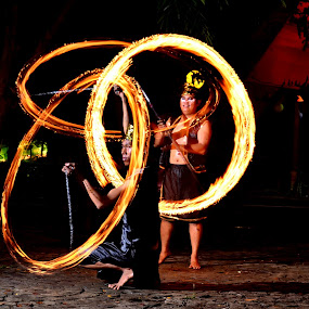 Cooperate by Kingkong Pang - People Fine Art ( fire dance, low light, circle, night shoot, fire )