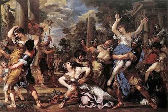 Photo: Sabines_cortona - L'enlèvement des Sabines 1626-1629 (Pietro da Cortona, 1596-1669) Musée du Capitole, Rome