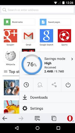 Opera Mini beta web browser 11.0.1912.94373 screenshot 6958
