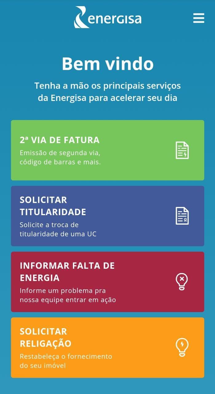 solicitar religação de luz energisa pelo mobile