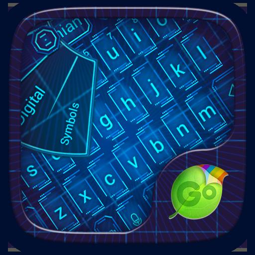 Minimalist Blue Go Keyboard Theme
