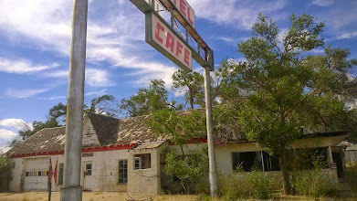 Photo: August 9-Glenrio is a true ghost town with eerily vacant cafes and auto courts.