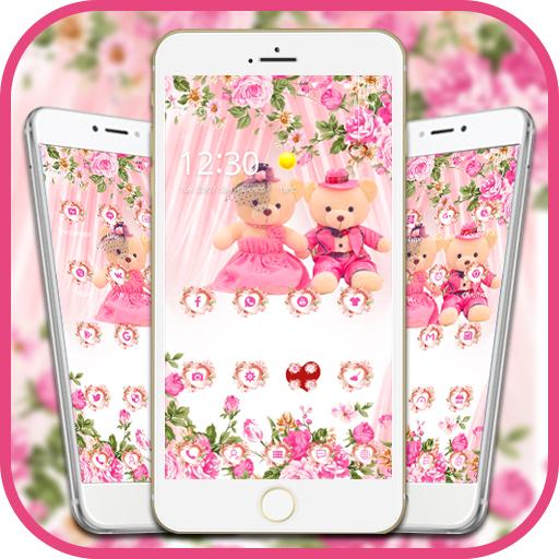 Pink theme teddy bear