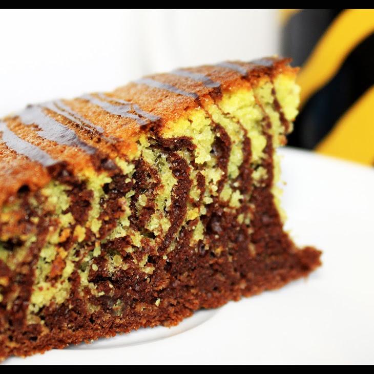 Chocolate-Almond Zebra Cake