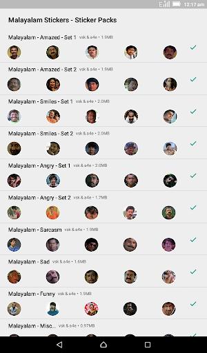Malayalam Stickers for WhatsApp - WAStickerApps screenshot 1