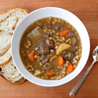 Duff Goldman's Beef and Barley Soup.