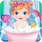 Baby Caring Bath And Dress Up Baby Games icon