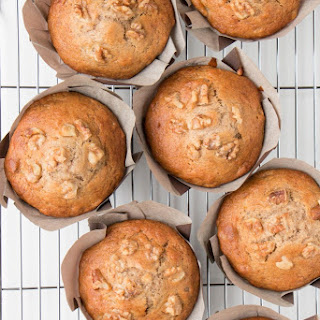 Bakery Style Banana Nut Muffins.