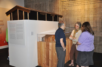 Photo: In one of the exhibit rooms at the Wing Luke Asian Museum: Jeff Robbins, Carole Slesnick, and Carmen Sterba.