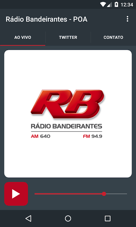 Rádio Bandeirantes - POA- screenshot