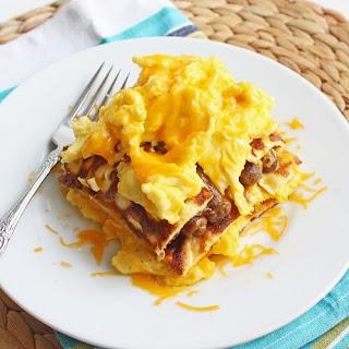 Low Carb Breakfast Lasagna (Gluten Free).