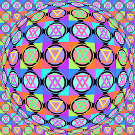PATTERN OP ART 1 by Cassy 67 - Illustration Abstract & Patterns ( digital, love, op art, harmony, abstract art, trippy, pattern, abstract, creative, digital art, psychedelic, modern, light, style, energy, fashion )